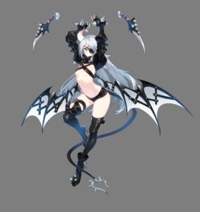 Rating: Questionable Score: 45 Tags: armor closers eyepatch heels horns no_bra red_star_alliance seulbi_lee tail thighhighs transparent_png weapon wings User: Nepcoheart