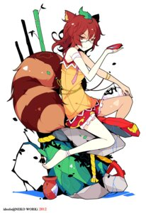 Rating: Safe Score: 28 Tags: animal_ears futatsuiwa_mamizou ideolo megane tail touhou User: itsu-chan