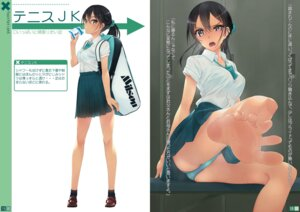 Rating: Questionable Score: 33 Tags: bra feet murakami_suigun pantsu see_through seifuku skirt_lift User: Radioactive