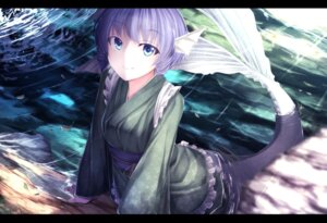 Rating: Questionable Score: 54 Tags: japanese_clothes monster_girl tail touhou wakasagihime waterdog User: sylver650
