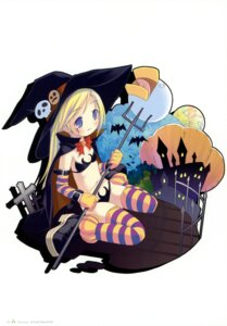 Rating: Safe Score: 24 Tags: bikini halloween moetan pop shiratori_alice swimsuits thighhighs witch User: petopeto