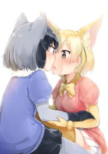 Rating: Safe Score: 26 Tags: animal_ears common_raccoon fennec kemono_friends nosetissue pantyhose thighhighs yuri User: Mr_GT