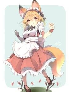 Rating: Safe Score: 54 Tags: animal_ears chita_(ketchup) maid tail User: Mr_GT