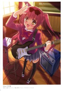 Rating: Safe Score: 22 Tags: amakusa_tobari guitar k-books seifuku thighhighs User: WtfCakes