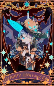 Rating: Safe Score: 27 Tags: dress halloween hatsune_miku kakami_(pixiv7616827) vocaloid wings User: sym455
