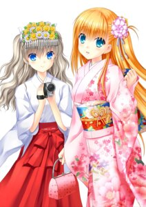 Rating: Safe Score: 20 Tags: charlotte key kimono miko na-ga nishimori_yusa tomori_nao User: marechal