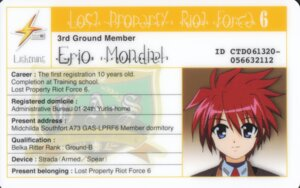 Rating: Safe Score: 4 Tags: erio_mondial id_card mahou_shoujo_lyrical_nanoha mahou_shoujo_lyrical_nanoha_strikers User: yoru_o