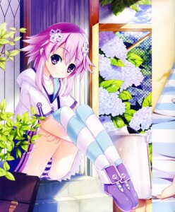 Rating: Questionable Score: 64 Tags: choujigen_game_neptune color_issue kaho_okashii neptune pantsu screening shimapan thighhighs User: Radioactive