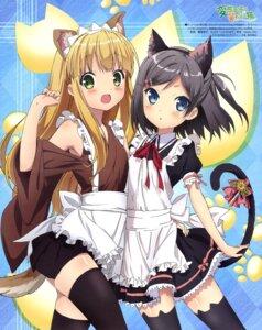 Rating: Safe Score: 101 Tags: animal_ears azuki_azusa hentai_ouji_to_warawanai_neko iizuka_haruko maid nekomimi tail thighhighs tsutsukakushi_tsukiko User: drop