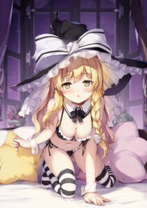 Rating: Questionable Score: 79 Tags: bra cleavage kirisame_marisa miyase_mahiro pantsu thighhighs touhou witch User: kiyoe