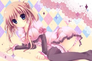 Rating: Safe Score: 91 Tags: amanatsu_yuzuka dress pantsu shimapan thighhighs User: aihost