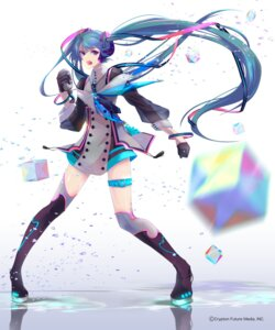 Rating: Safe Score: 55 Tags: garter hatsune_miku hoshima see_through thighhighs vocaloid User: red_destiny