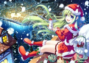 Rating: Safe Score: 36 Tags: christmas miyase_mahiro thighhighs User: fairyren