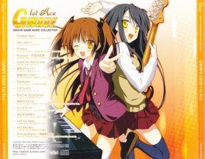 Rating: Safe Score: 6 Tags: disc_cover guitar gwave seifuku shida_kazuhiro thighhighs User: alimilena
