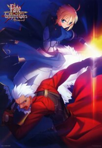 Rating: Safe Score: 7 Tags: archer fate/stay_night fate/unlimited_codes saber takeuchi_takashi type-moon User: vita