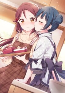 Rating: Safe Score: 18 Tags: hazuki_(sutasuta) love_live!_sunshine!! maid sakurauchi_riko sweater tsushima_yoshiko valentine wa_maid waitress yuri User: hiroimo2