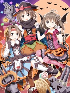 Rating: Safe Score: 21 Tags: bloomers dress halloween jintsu_(kancolle) kantai_collection naka_(kancolle) pantyhose rensouhou-chan sendai_(kancolle) tsurukou wings User: Mr_GT