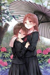 Rating: Safe Score: 14 Tags: fukahire_sanba seifuku tagme umbrella yuri User: Radioactive