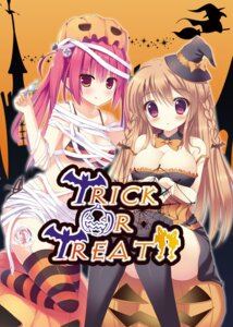 Rating: Questionable Score: 52 Tags: bikini cleavage halloween megarisu swimsuits thighhighs User: blooregardo