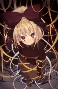 Rating: Safe Score: 73 Tags: bondage dress kurodani_yamame pantyhose torn_clothes touhou usamata User: Mr_GT