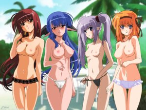 Rating: Questionable Score: 78 Tags: cameltoe fuyou_kaede hosoda_naoto lisianthus nerine nipples pantsu photoshop pointy_ears primula shuffle string_panties takano_aya topless undressing wallpaper watermark User: abominable
