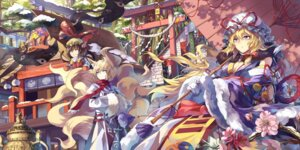 Rating: Safe Score: 29 Tags: animal_ears chen neko_(yanshoujie) tail touhou yakumo_ran yakumo_yukari User: Radioactive