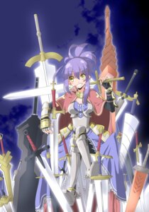 Rating: Safe Score: 8 Tags: armor hinoshita_hikari sword User: charunetra