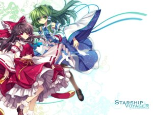 Rating: Safe Score: 13 Tags: capura.l hakurei_reimu kochiya_sanae touhou wallpaper User: blooregardo