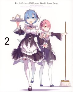 Rating: Safe Score: 72 Tags: disc_cover gashin maid ram_(re_zero) re_zero_kara_hajimeru_isekai_seikatsu rem_(re_zero) thighhighs User: xiaowufeixia