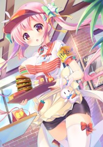 Rating: Safe Score: 69 Tags: kurou_(quadruple_zero) pantsu thighhighs waitress User: Mr_GT