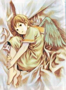 Rating: Safe Score: 8 Tags: abe_yoshitoshi haibane_renmei rakka wings User: petopeto