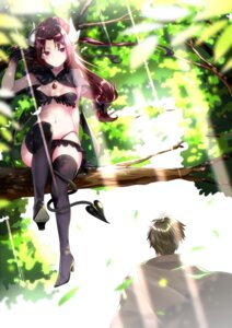 Rating: Safe Score: 11 Tags: bikini heels horns mishin_(mbmnk) pointy_ears swimsuits tail thighhighs wings User: Mr_GT