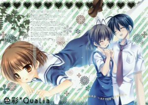 Rating: Safe Score: 18 Tags: clannad clannad_after_story fixed furukawa_nagisa okazaki_tomoya okazaki_ushio seifuku tatekawa_mako User: mmqmxsg