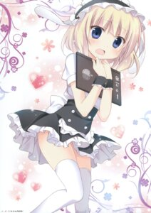 Rating: Questionable Score: 58 Tags: gochuumon_wa_usagi_desu_ka? kirima_sharo korie_riko thighhighs waitress User: Twinsenzw