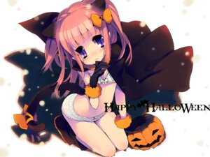 Rating: Questionable Score: 44 Tags: animal_ears bra halloween loli nekomimi pantsu rugo tail User: blooregardo