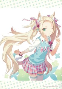 Rating: Safe Score: 69 Tags: animal_ears h2so4 island_of_horizon tail thighhighs User: Aurelia