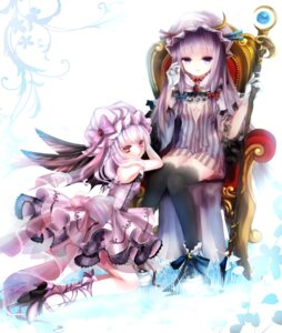 Rating: Safe Score: 28 Tags: dress gothic_lolita heels hime_murasaki lolita_fashion patchouli_knowledge remilia_scarlet see_through thighhighs touhou weapon wings User: charunetra