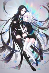 Rating: Safe Score: 28 Tags: boltz_(houseki_no_kuni) diamond_(houseki_no_kuni) heels houseki_no_kuni sword tagme thighhighs User: charunetra