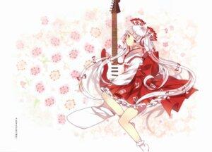 Rating: Questionable Score: 13 Tags: domotolain fujiwara_no_mokou guitar japanese_clothes touhou User: Radioactive