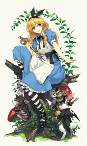 Rating: Safe Score: 32 Tags: alice alice_in_wonderland cheshire_cat dress heels luna neko umbrella white_rabbit User: Mr_GT