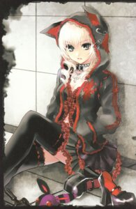 Rating: Safe Score: 33 Tags: animal_ears cleavage gothic_lolita kuramoto_kaya lolita_fashion nekomimi pieces_of_the_world thighhighs User: Radioactive