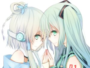 Rating: Safe Score: 26 Tags: benghuai_7 hatsune_miku luo_tianyi vocaloid wallpaper User: aihost