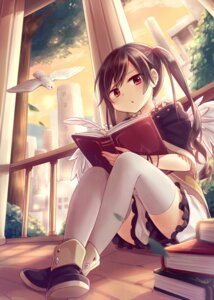 Rating: Safe Score: 31 Tags: amene_kurumi thighhighs wings User: fairyren
