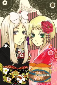 Rating: Safe Score: 4 Tags: belarus hana_kuzu hetalia_axis_powers kimono liechtenstein User: charunetra