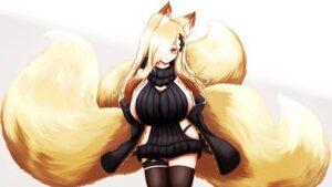 Rating: Questionable Score: 0 Tags: animal_ears garter kitsune no_bra nopan open_shirt sweater tagme tail thighhighs wallpaper User: dick_dickinson