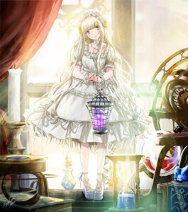 Rating: Safe Score: 16 Tags: dress fishnets heels horns kazuharu_kina lolita_fashion tagme User: Mr_GT
