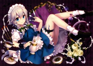 Rating: Questionable Score: 39 Tags: izayoi_sakuya maid masaru skirt_lift touhou weapon User: SweetLemonade