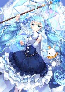 Rating: Safe Score: 40 Tags: hatsune_miku lunacle vocaloid weapon yuki_miku User: Mr_GT