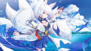 Rating: Safe Score: 54 Tags: animal_ears azur_lane cleavage japanese_clothes kaga_(azur_lane) kitsune masabodo tail User: RyuZU