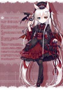 Rating: Safe Score: 26 Tags: animal_ears dress gothic_lolita heels heterochromia lolita_fashion thighhighs tsukikage_nemu wings User: kiyoe